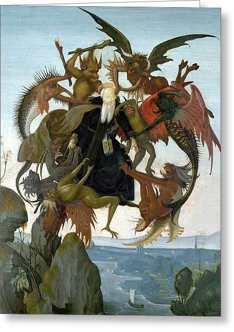 Torment Paintings Greeting Cards - The Torment of Saint Anthony Greeting Card by Michelangelo Buonarroti