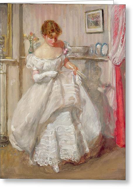 Ball Room Greeting Cards - The Torn Gown Greeting Card by Henry Tonks