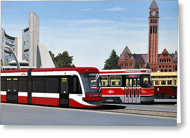 Pcc Greeting Cards - The Toronto Streetcar 100 Years Greeting Card by Kenneth M  Kirsch