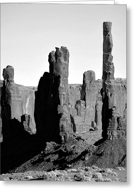 Monolith Greeting Cards - The Totem Poles Greeting Card by David Lee Thompson