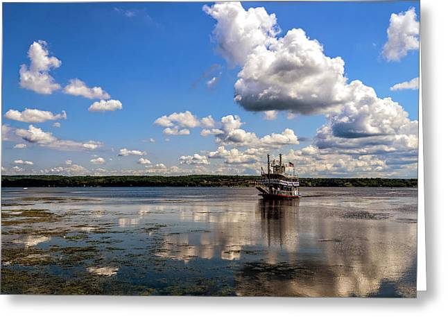 Boat On Water Greeting Cards - The Tour Greeting Card by Mark Papke
