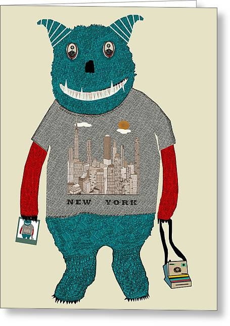 Fun New Art Greeting Cards - The Tourist  Greeting Card by Bri Buckley