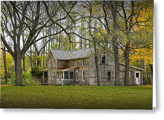 Old House Photographs Greeting Cards - The Tower Farm House in the Fallasburg Historical District Greeting Card by Randall Nyhof