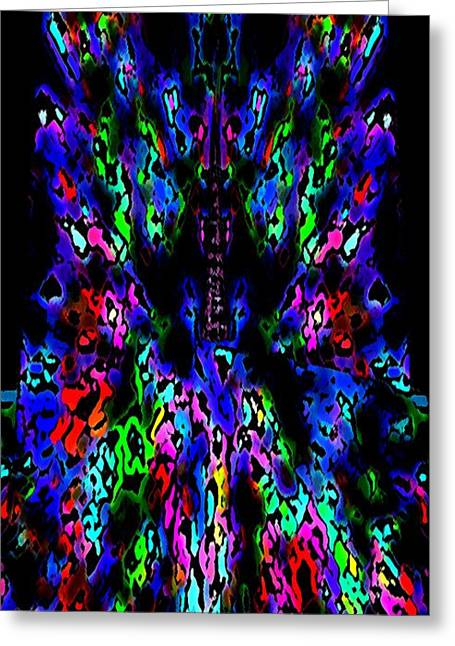 The Tower In Abstract Art Greeting Card by Mario Perez