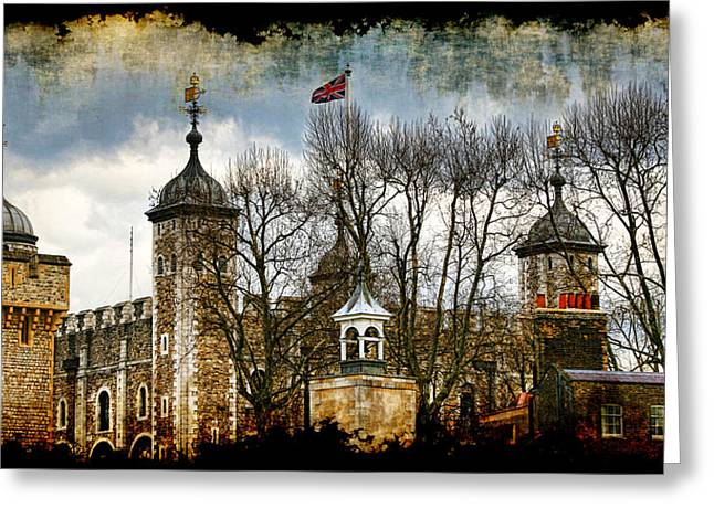 Palace Of The Normans Greeting Cards - The Tower of London Greeting Card by Joanna Madloch