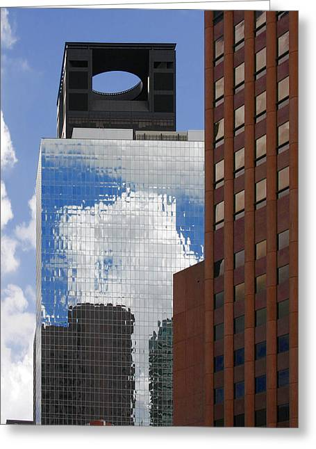 Downtown District Greeting Cards - The Tower of Power Houston TX Greeting Card by Christine Till