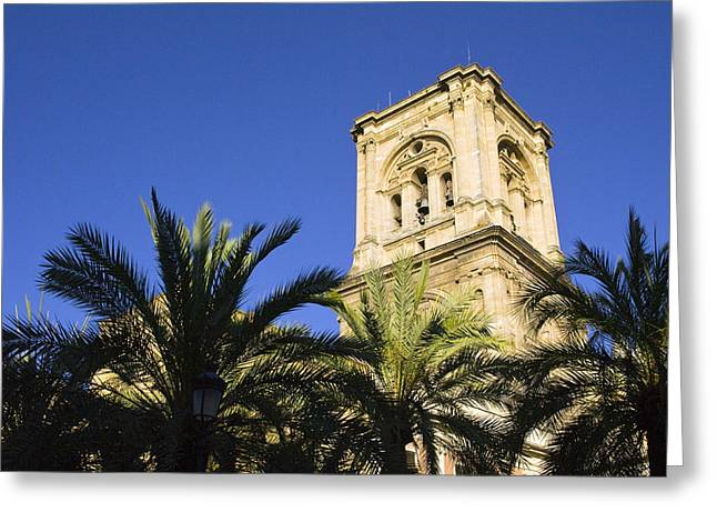 Incarnation Photographs Greeting Cards - The tower of the Cathedral of the Incarnation Greeting Card by John Rocha