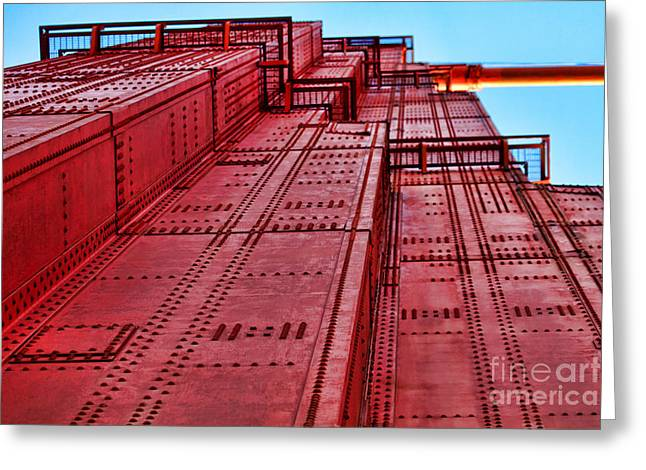 Sight Seeing San Francisco Greeting Cards - The Tower on Golden Gate by Diana Sainz Greeting Card by Diana Sainz
