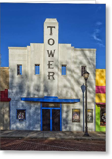 Small Town Life Greeting Cards - The Tower Theatre of Lamesa Texas Greeting Card by Mountain Dreams