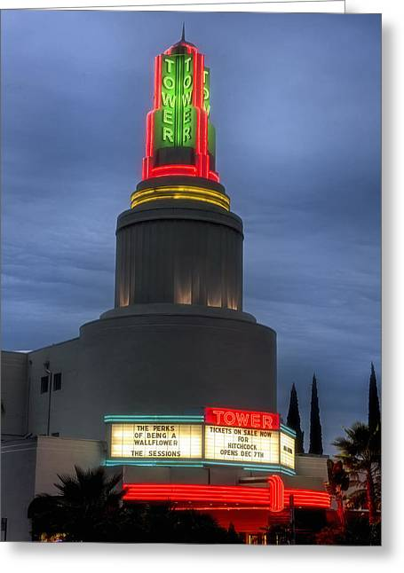 Sacramento Greeting Cards - The Tower Theatre of Sacramento Greeting Card by Mountain Dreams