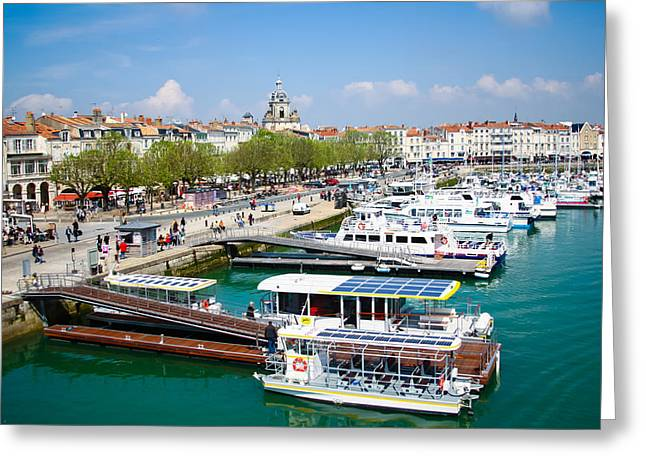 Docking Greeting Cards - The Town and Port of La Rochelle Greeting Card by Nila Newsom
