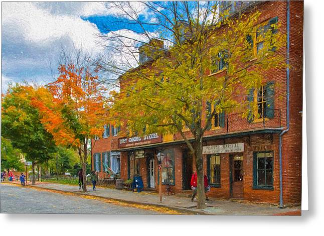 Historic Country Store Greeting Cards - The Town of Harpers Ferry Greeting Card by John Bailey