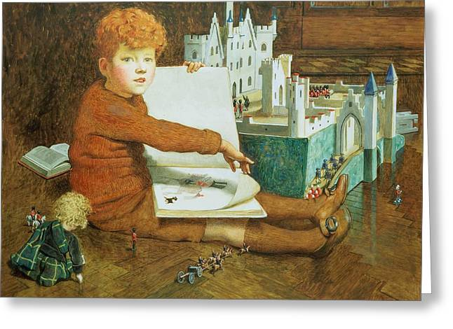 Story Book Greeting Cards - The Toy Castle Greeting Card by John Byam Liston Shaw