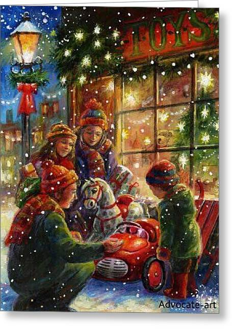 Toy Shop Greeting Cards - The Toy Shop Greeting Card by Brenda Davis