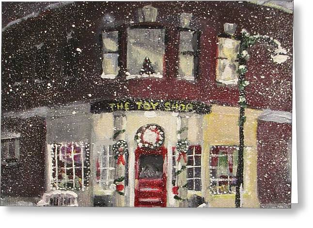 The Toy Shop Greeting Card by Jack Skinner