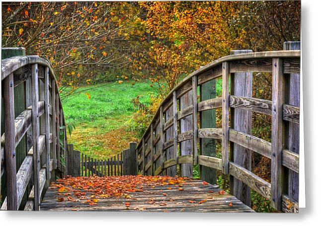 Fall Grass Greeting Cards - The Trail Arches On Greeting Card by Greg and Chrystal Mimbs