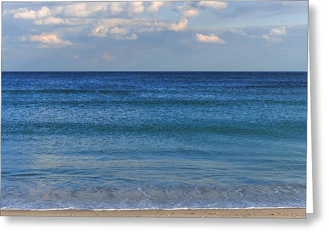 Fun New Art Greeting Cards - The Tranquil Sea Seaside New Jersey Greeting Card by Terry DeLuco