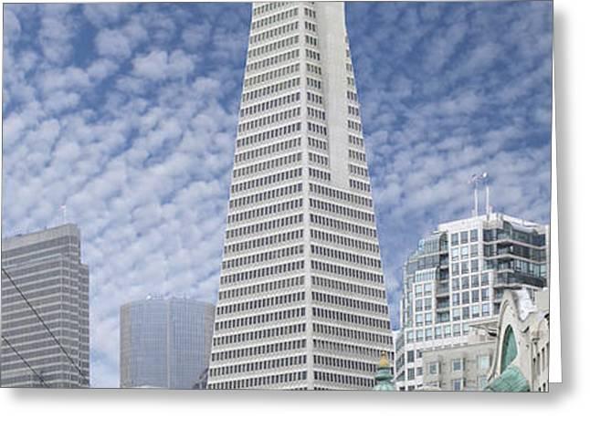 The Transamerica Pyramid - San Francisco Greeting Card by Mike McGlothlen
