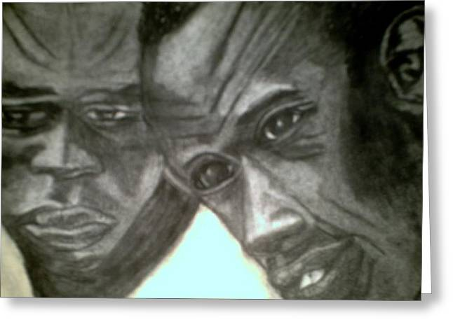 Negro Drawings Greeting Cards - The Transition Greeting Card by Jo-Ann Hayden