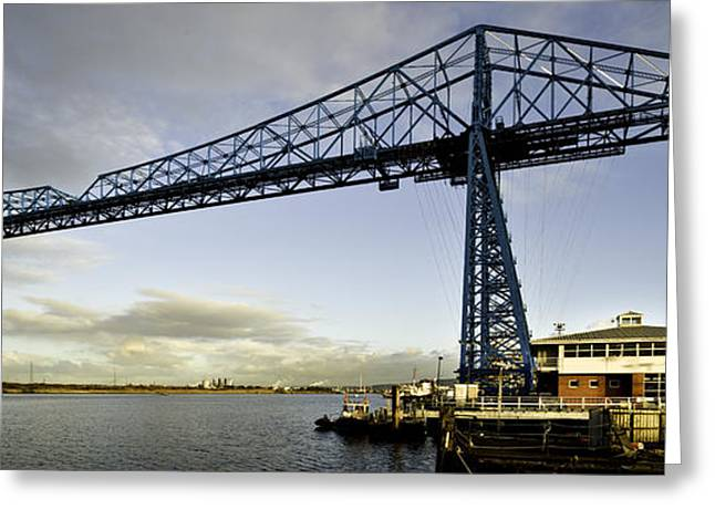 Stockton Greeting Cards - The Transporter Bridge Greeting Card by Dave Hudspeth