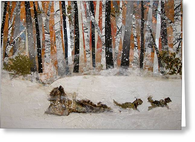 Trappers Greeting Cards - The Trapper Greeting Card by Barbara Kinnick