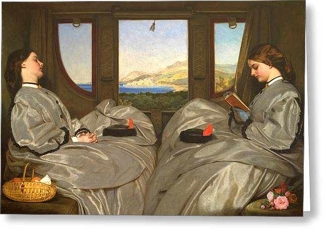 Leopold Greeting Cards - The Travelling Companions Greeting Card by Augustus Leopold Egg