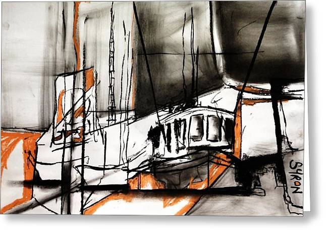 Prawn Boat Greeting Cards - The Trawlers Greeting Card by Helen Syron