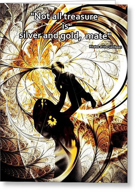 Treasures Mixed Media Greeting Cards - The Treasure Greeting Card by Anastasiya Malakhova
