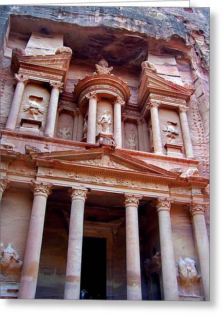 Petra Greeting Cards - The Treasury at Petra Greeting Card by David T Wilkinson