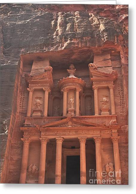 The Treasury In Petra Jordan Greeting Card by Beth Wolff