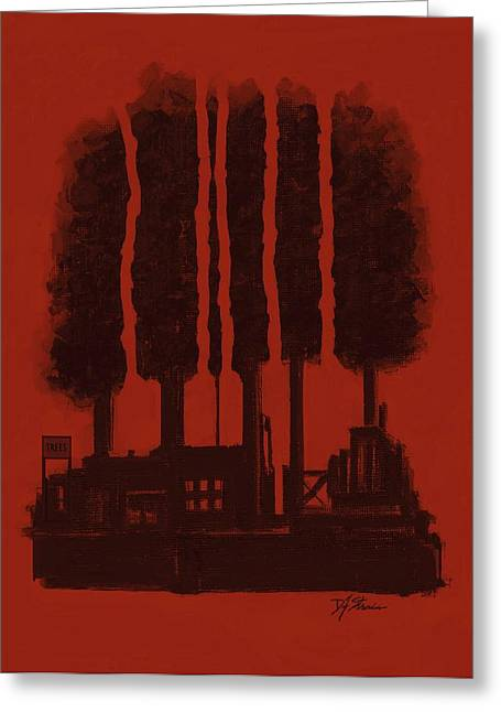 Fineartamerica Mixed Media Greeting Cards - The Tree Factory  Number 10 Greeting Card by Diane Strain