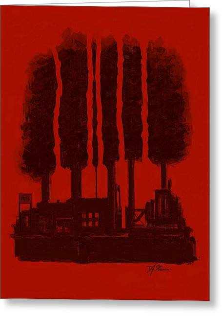 Fineartamerica Mixed Media Greeting Cards - The Tree Factory  Number 11 Greeting Card by Diane Strain