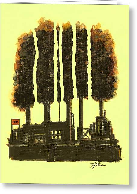 Fineartamerica Mixed Media Greeting Cards - The Tree Factory  Number 2 Greeting Card by Diane Strain