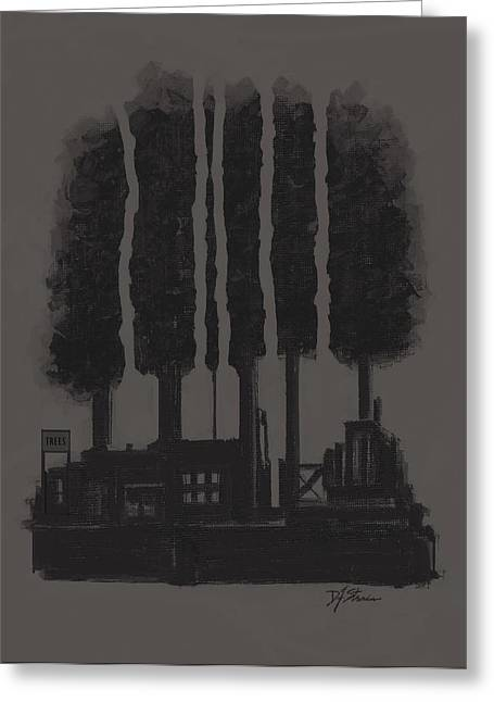 Tress Posters Greeting Cards - The Tree Factory  Number 4 Greeting Card by Diane Strain