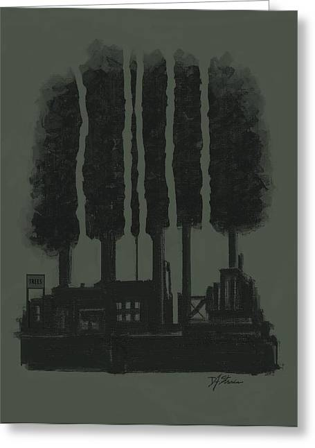 Tress Posters Greeting Cards - The Tree Factory  Number 5 Greeting Card by Diane Strain