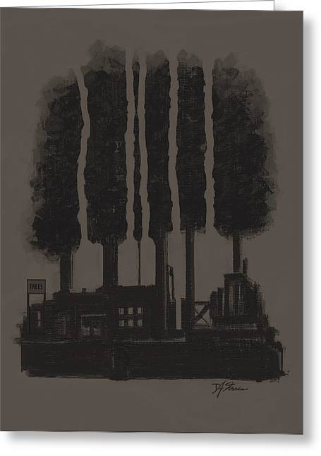 Tress Posters Greeting Cards - The Tree Factory  Number 6 Greeting Card by Diane Strain