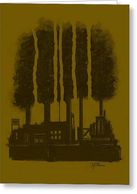 Tress Posters Greeting Cards - The Tree Factory  Number 8 Greeting Card by Diane Strain