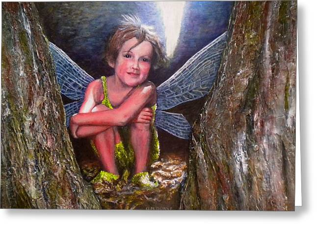 Faire Greeting Cards - The Tree Fairy Greeting Card by Michael Durst