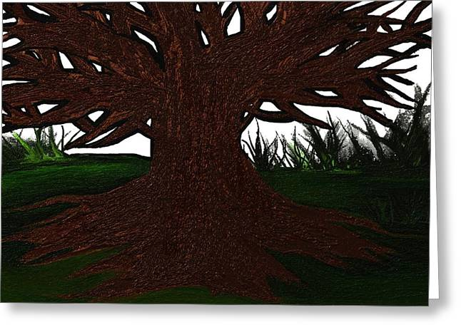 Mud Season Digital Art Greeting Cards - The tree Greeting Card by Frances Lewis