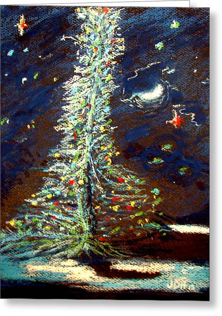 Illuminate Pastels Greeting Cards - The Tree Greeting Card by Joseph Hawkins