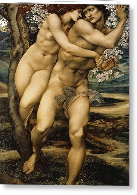 Historically Significant Greeting Cards - The Tree Of Forgiveness Greeting Card by Edward Burne Jones