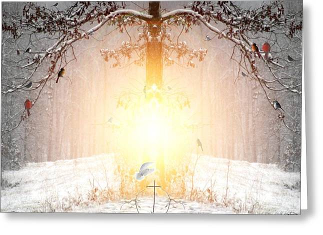Winter Trees Mixed Media Greeting Cards - The Tree of Life Greeting Card by Bill Stephens