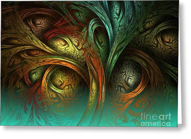Fine Art Of America Greeting Cards - The Tree of Life Greeting Card by Sandra Bauser Digital Art