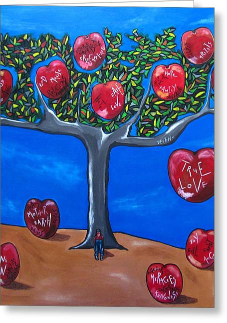 Bible Paintings Greeting Cards - The Tree of Life Greeting Card by Sandra Marie Adams