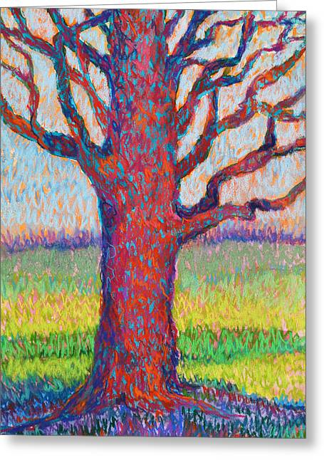 Colorful Trees Greeting Cards - The Tree of Longevity Greeting Card by Billie Colson