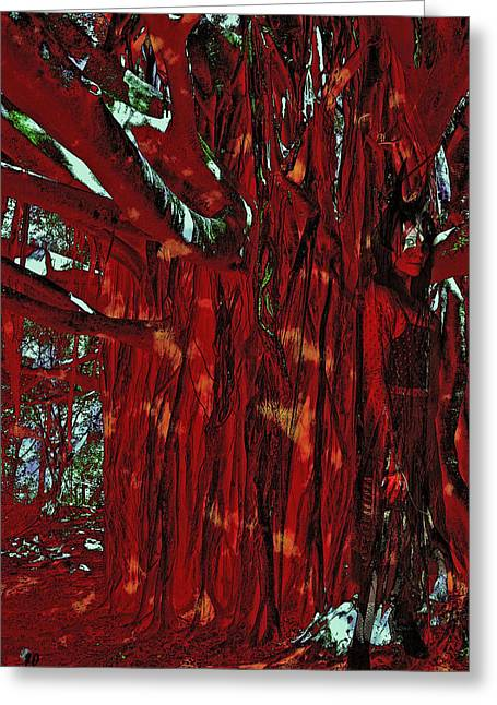 Tree Spirit Greeting Cards - The Tree Spirit Greeting Card by Linda Sannuti