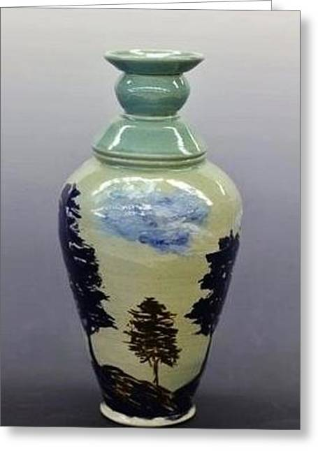 D Ceramics Greeting Cards - The Trees of Life Greeting Card by Debra Akers