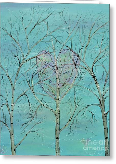 Contemporary Symbolism Greeting Cards - The Trees Speak to Me in Whispers Greeting Card by Deborha Kerr