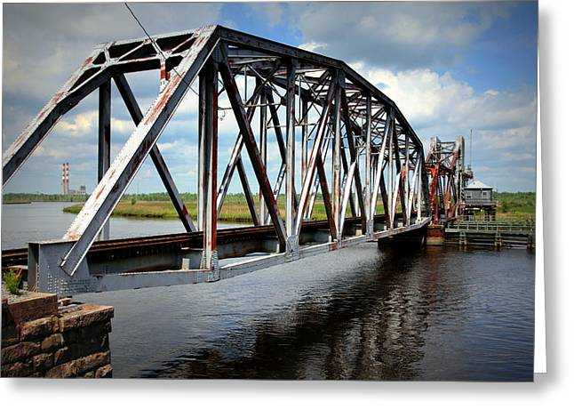 Cape Fear River Greeting Cards - The Tressel Greeting Card by Karen Wiles