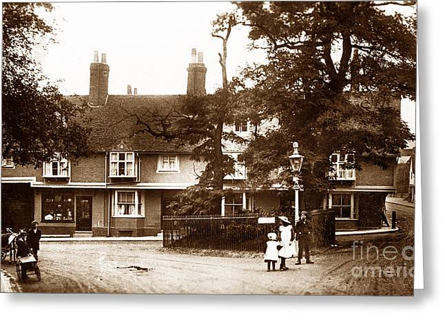 Hitchin Greeting Cards - The Triangle Hitchin England Greeting Card by The Keasbury-Gordon Photograph Archive